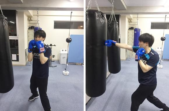 湘南藤沢ボクシングフィットネスジムでの練習風景