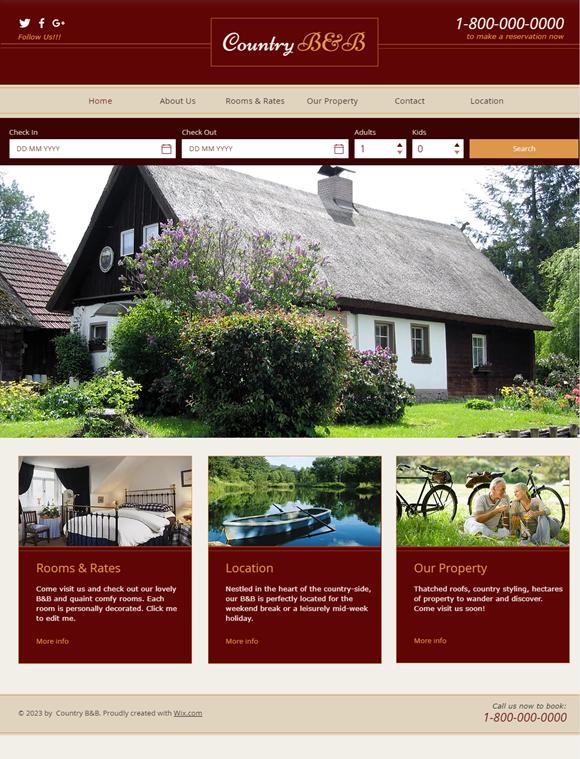 旅館・ホテルのホームページデザイン例4