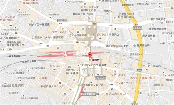 藤沢駅の地図