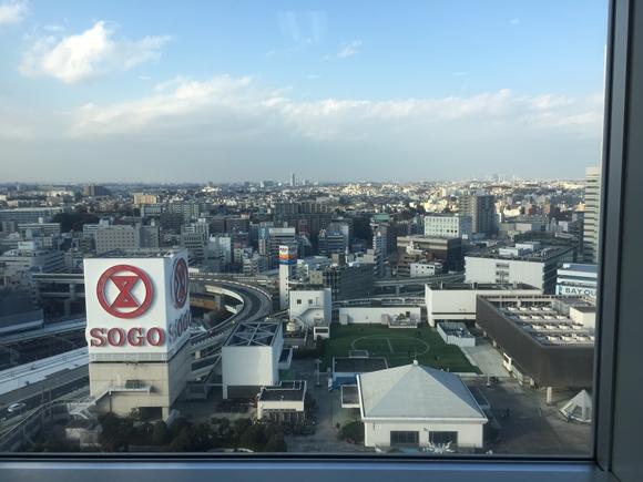 瑞鶴の横浜オフィスからの風景