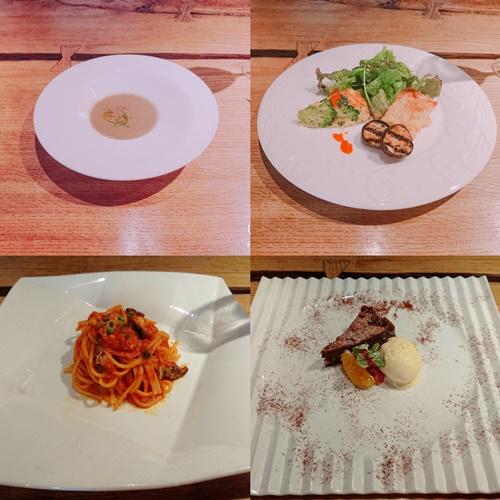 リストランテリアルの料理