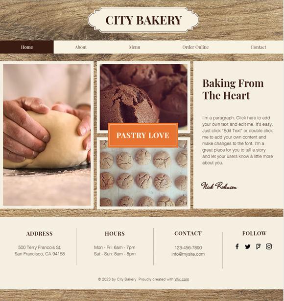 飲食店のホームページデザイン例7