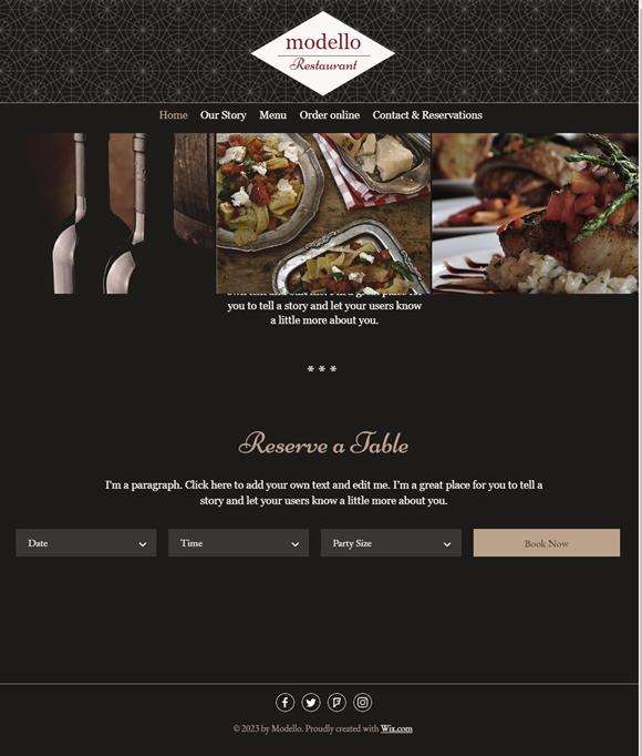 飲食店のホームページデザイン例8