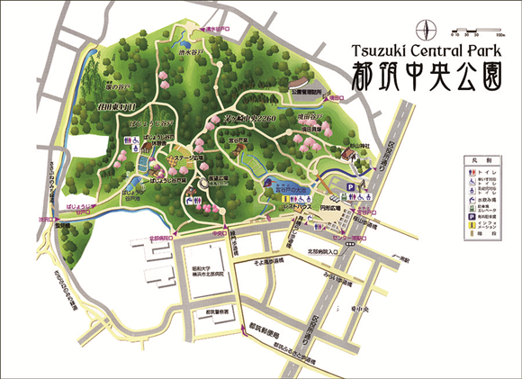 都築中央公園の地図
