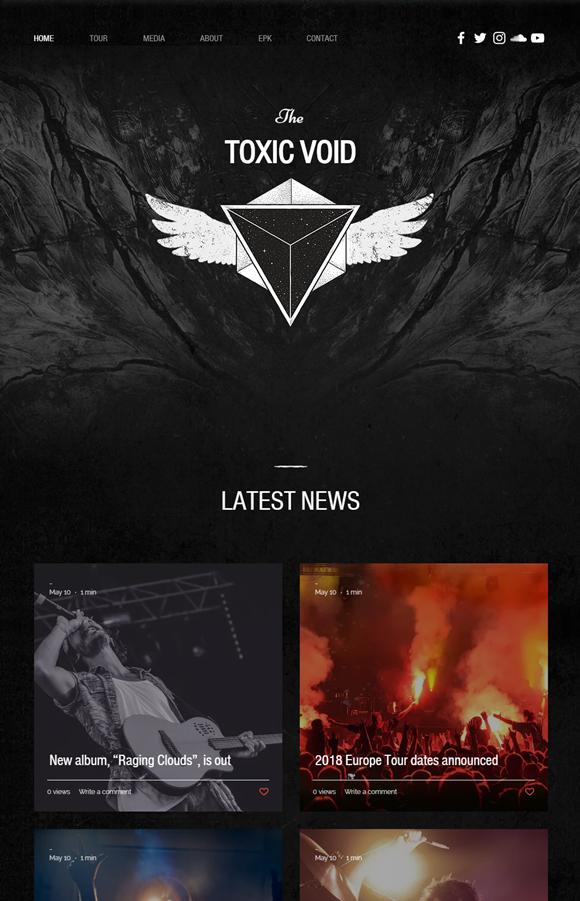 バンドのホームページデザイン例5