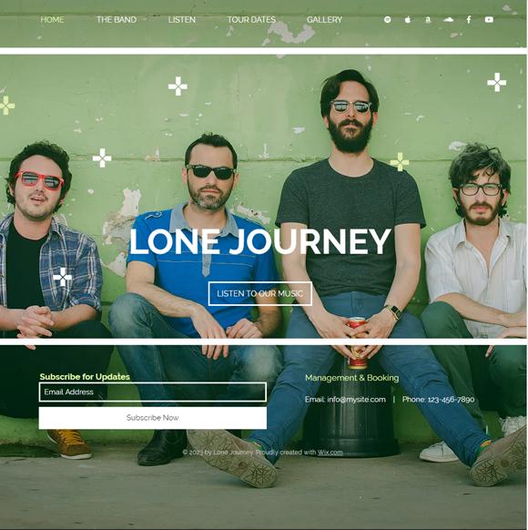 バンドのホームページデザイン例7