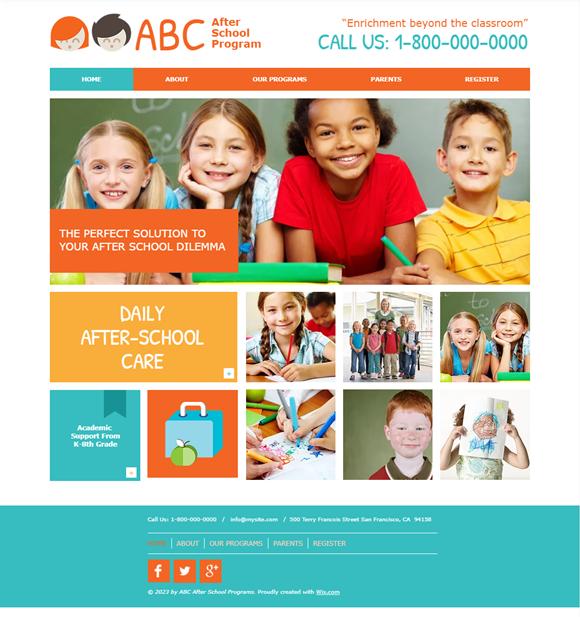 幼稚園・保育園のホームページデザイン例4