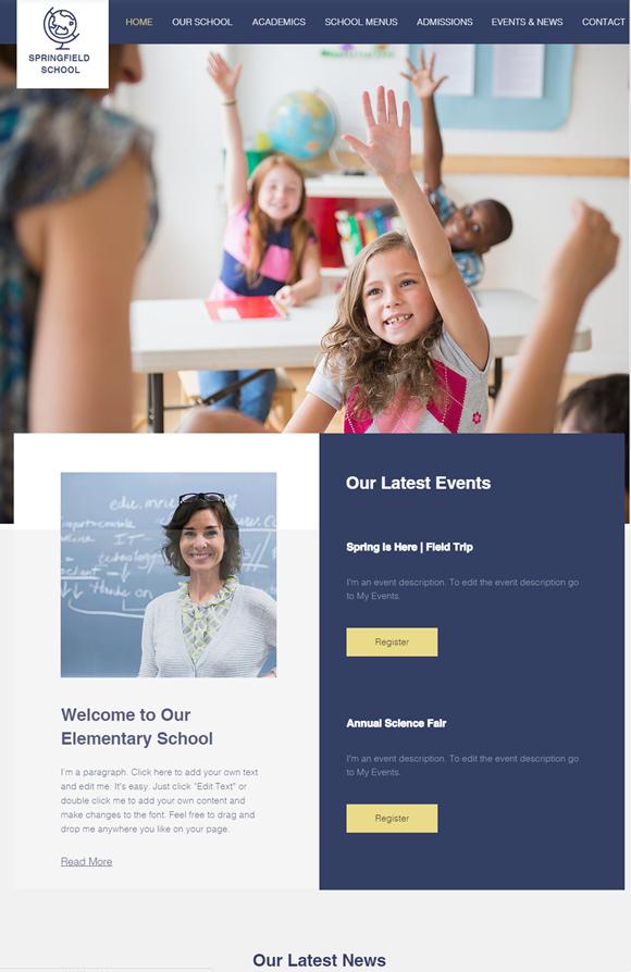 幼稚園・保育園のホームページデザイン例6