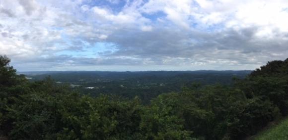 鹿野山の山頂からの景色
