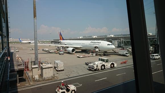 バリ島へ向かう飛行機